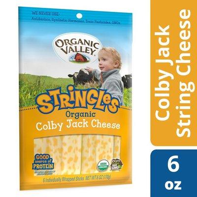 Organic Valley Stringles Organic Colby Jack Cheese Sticks