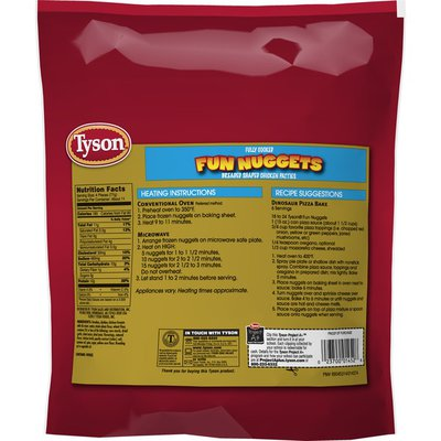 Tyson Fully Cooked Fun Frozen Chicken Nuggets