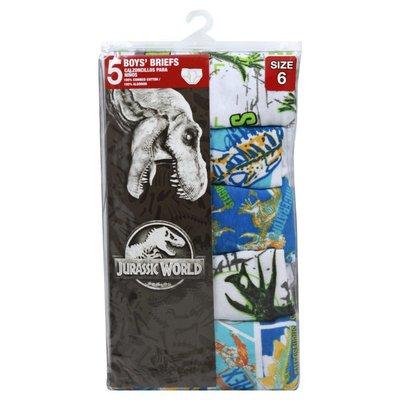 Jurassic World Boys' Brief, Size 6