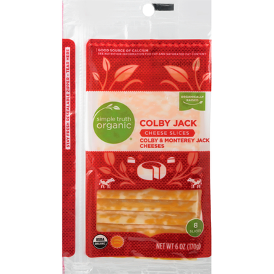 Simple Truth Organic Cheese Slices, Colby Jack