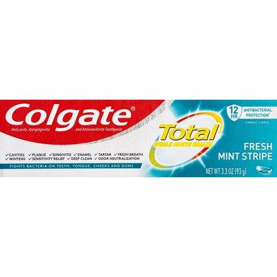 2-Pack Colgate Total Toothpaste Fresh Mint Stripe, 3.3oz