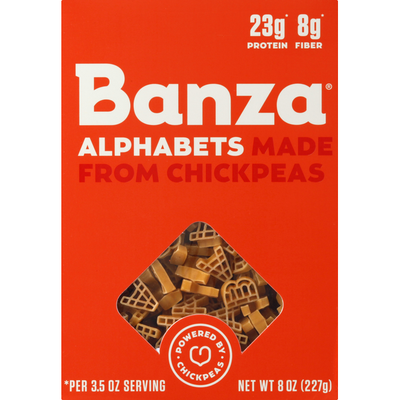 Banza Alphabets, Made from Chickpeas