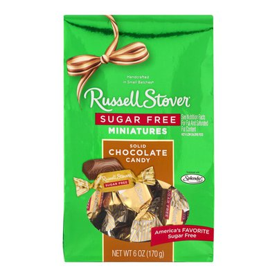Russell Stover Sugar Free Minatures Solid Chocolate Candy
