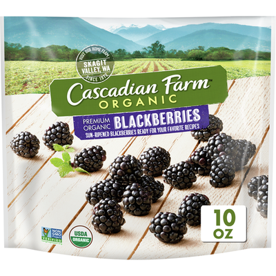Cascadian Farm Organic, Blackberries, Premium Frozen Fruit, Non-GMO