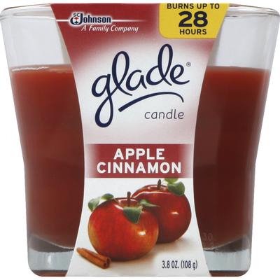 Glade Candle, Apple Cinnamon