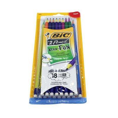 BiC Xtra Fun Assorted Two-Tone Barrel Color #2 Pencils