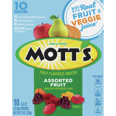 Mott's Fruit Flavored Snacks, Assorted Fruit