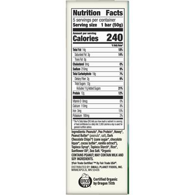 Cascadian Farm Organic Peanut Butter Chocolate Chip Protein Bar, 5 Bars