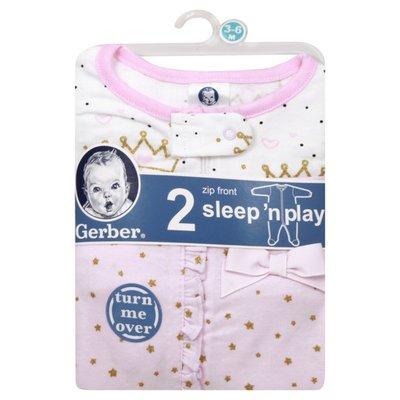 Gerber Sleep 'N Plays, Zip Front, 3-6 Months