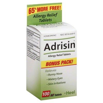 Adrisin Allergy Relief, Tablets, Bonus Pack
