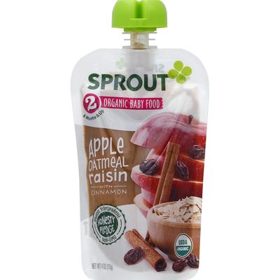 Sprout Organic Baby Food Apple, Oatmeal Raisin