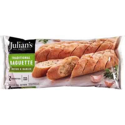 Julian's Recipe Traditional Baguette, Butter & Garlic