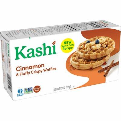 Kashi Frozen Waffles, Vegan and Gluten Free, Frozen Breakfast For Kids, Cinnamon