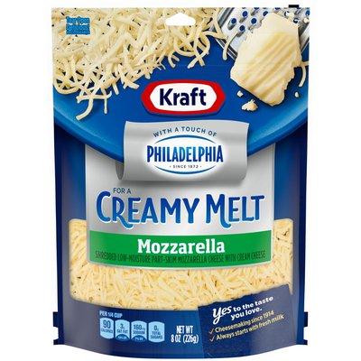 Kraft Shredded Mozzarella Cheese with a Touch of Philadelphia