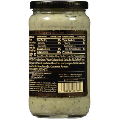 Victoria Vegan Alfredo Arugula Pesto Sauce