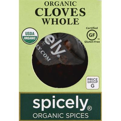 Spicely Organics Cloves, Whole, Organic