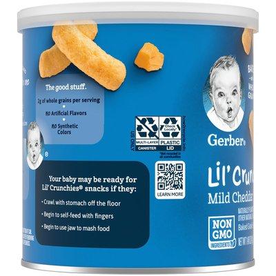 Gerber Mild Cheddar Baked Corn Snack