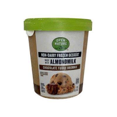 Open Nature Fudge Brownie Flavored Plant Based Almond Non-dairy Frozen Dessert