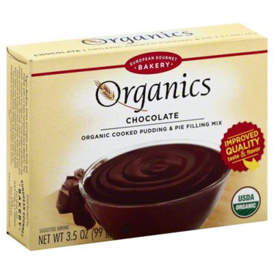 European Gourmet Bakery Cooked Pudding & Pie Filling Mix, Organic, Chocolate