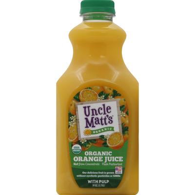 Uncle Matt's Organic Juice, Organic, Orange, with Pulp