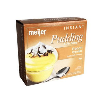 meijer FRENCH VANILLA FLAVORED instant PUDDING & PIE FILLING