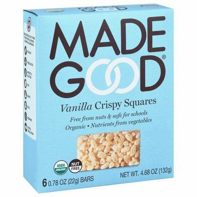 Made Good Crispy Squares, Vanilla, 6 Pack