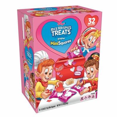 Kellogg's Rice Krispies Treats Mini Marshmallow Snack Bars, Kids Snacks, Valentines Day Pack, Original
