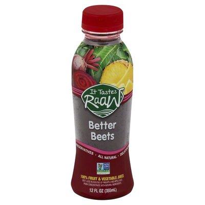 It Tastes Raaw 100% Fruit & Vegetable Juice, Better Beets