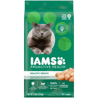IAMS Healthy Senior Dry Cat Food with Chicken