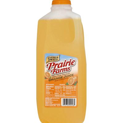 Prairie Farms 100% Juice, Pure Premium, Orange
