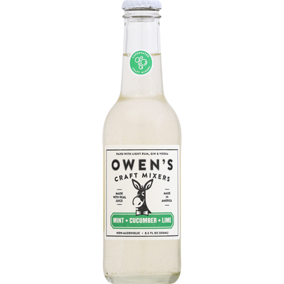 Owens Craft Mixers, Mint + Cucumber + Lime