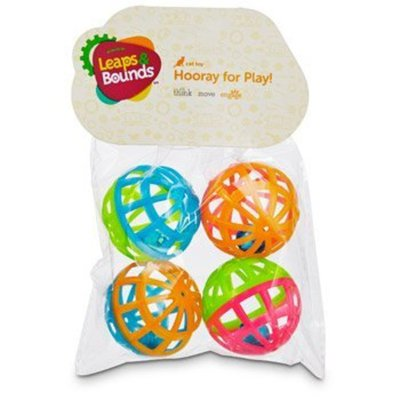 Leaps & Bounds Lattice Ball And Bell Cat Toys Pack Of 4 Balls