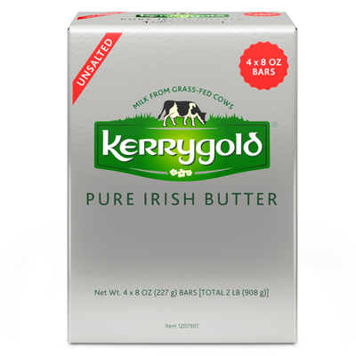 Kerrygold Grass-Fed Pure Irish Unsalted Butter Foil,