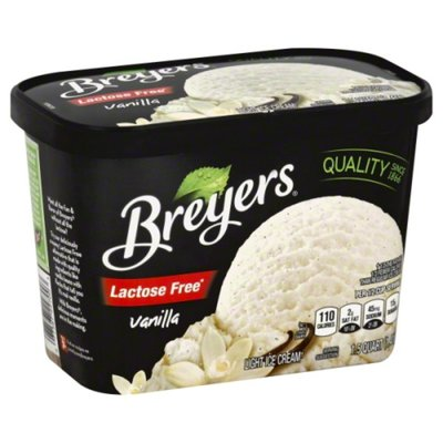 Breyers Lactose Free Vanilla Light Ice Cream