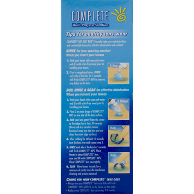 COMPLETE Multi-Purpose Solution Easy Rub formula For Soft Contact Lenses