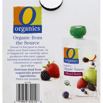 Organics Apple Sauce, Organic, Mixed Berry