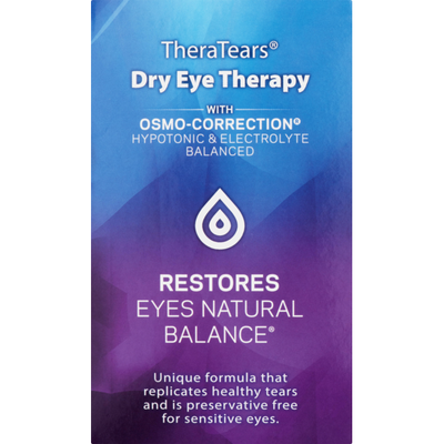 TheraTears Dry Eye Therapy Lubricant Eye Drops Single-Use Vials