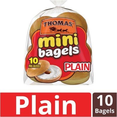Thomas' Plain Mini Pre-Sliced Bagels
