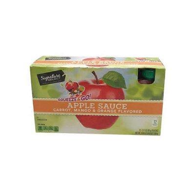 Signature Kitchens Apple Sauce, Carrot, Mango & Orange Flavored, Squeeze & Go!
