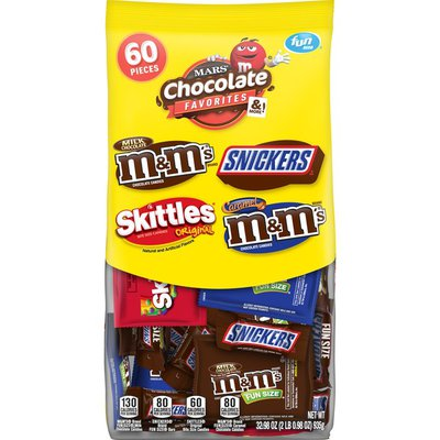 Mars Mixed Chocolate Sugar Fun Size Stand Up Pouch