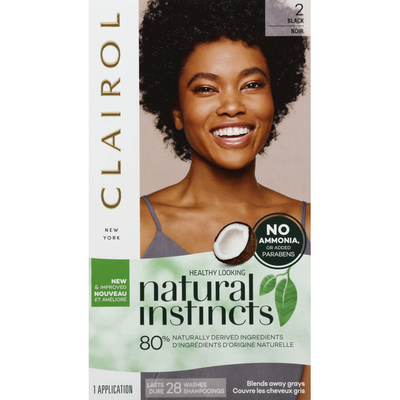 Clairol Natural Instincts Hair Color, Midnight Black 2
