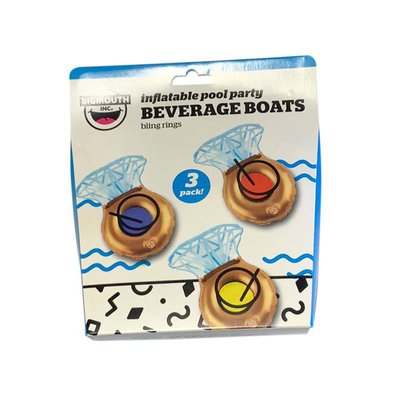 BigMouth Inc. Bling Ring Beverage Boats Drink Floats