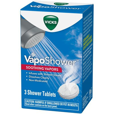 V VapoShower Aromatherapy Shower Bomb, Soothing Vicks Vapor Steam