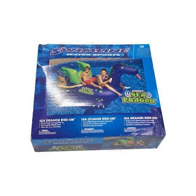 Swimline Giant Sea Dragon Inflatable Ride on Swimming Pool Raft Toy