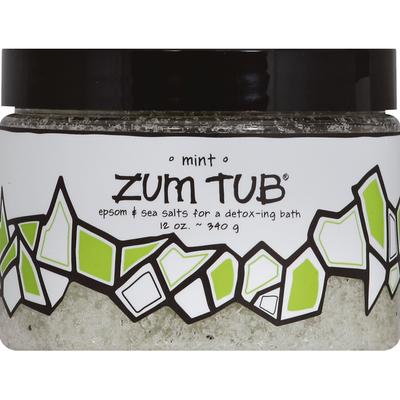 Zum Tub Epsom & Sea Salts, Mint