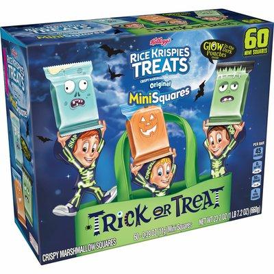 Kellogg's Rice Krispies Treats Mini-Squares Mini Marshmallow Snack Bars, Kids Snacks, Halloween Pack