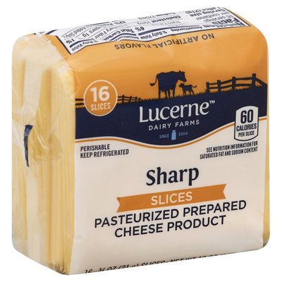 Lucerne Sharp Pasteurized Prepared Cheese Product Slices