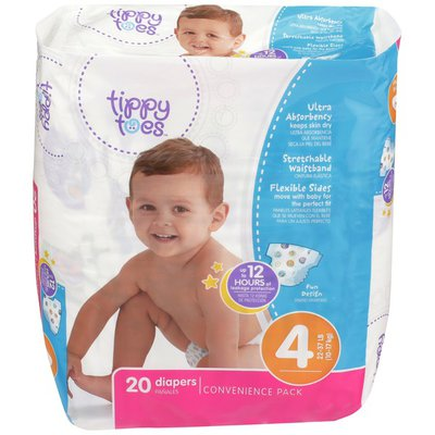 Tippy Toes Convenient Pack Sz Ultrasoft Diapers