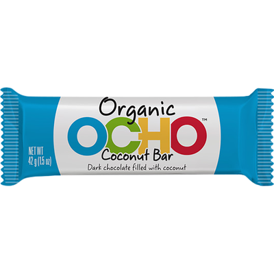 Ocho Organic Coconut Bar Dark Chocolate Filled