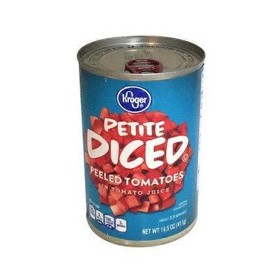 Kroger Diced Petite Peeled Tomatoes In Tomato Juice